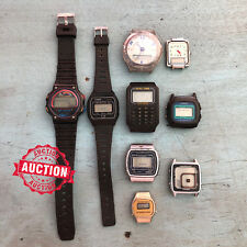 LOT 9 x Vintage Assorted Digital Watches Watchmaker Estate - No Reserve Auction