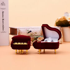 New Piano Ring Box Earring Pendant Jewelry Treasure Gift Case Wedding  GT