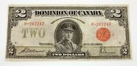 1923 $2 Dominion of Canada Note Pick #34g Very Fine Condition