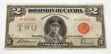 1923 $2 Dominion of Canada Note Pick #34g Very Fine Condition