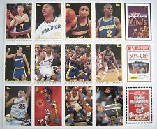 Lot of 3 1995 TOPPS Warriors NBA Basketball Card Strip Kelloggs