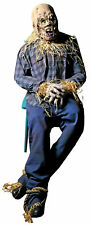Scary Scarecrow Prop Door Porch Greeter Lifesize Poseable Halloween Decoration