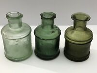 19th century antique inkwells. 3 pieces. Ink Well .Glass