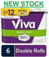 VIVA Signature Cloth PAPER - 6 DOUBLE ROLLS FAST 2-4 DAY PRIORITY SHIPPING