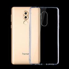 Huawei Honor 6X Cover Schutzhülle TPU Silikon Ultra dünn Glas/Klar