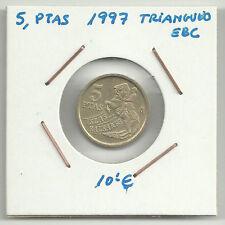 MONEDA DE 5 PESETAS DE 1997 (EXCESO DE METAL) ERROR COIN