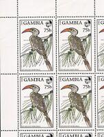 Gambia 1988 Scott's#720 Mint Sheet of 20 - 75 B. - Red Billed Hornbill Cat$20+