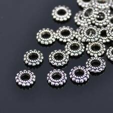150pc Charm Metal Beads Loose Spacer Tibetan Silver Jewellery Oblate 15x14.5x4mm