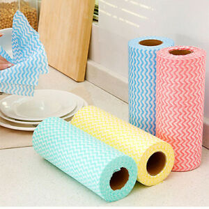 1 Roll Non Woven Towel Wiping Tissue Washing Cleaning Cloth Disposable Kitchen