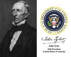 President John Tyler Portrait Presidential Seal Autograph 8 x 10 Photo Picture a