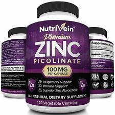 Nutrivein Premium Zinc Picolinate 100mg - 120 Capsules