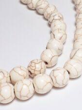 25pcs Howlite Stone Beige Brown Beads (Grade D), 7x8mm Bohemian Crafts - B01442