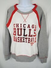 Chicago Bulls Womens Sizes M/L/2XL White Pull Over Sweater MSRP $55