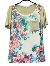 Andree by Unit Floral Short Sleeve Top  Size Medium