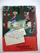 Vintage German Magazine Back Cover w/ Cute Couple on Motorcycles  *