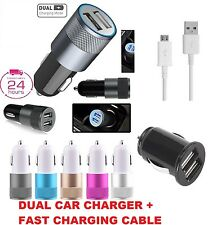 Car Charger +Cable Samsung S5 S6 S7 Note,