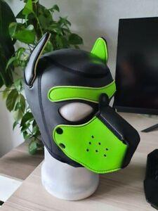 Mr. S Leather Neopren Hundemaske Gr M Lime Green