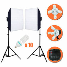 2000W Softbox Light Kit Photo Studio Video Photography Stand Continuous Lighting