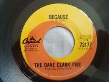 "The Dave Clark Five Because original 7"" 45 MINT Canada Capitol 72177"