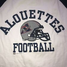 Vintage CFL Montreal Alouettes Canada T-Shirt  L Made In Canada Blue White 🇨🇦
