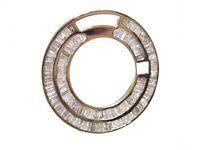 Rolex 36mm 2.20ct Baguette Cut White Diamond Day Date Dial Insert