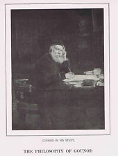 French Composer Charles GOUNOD in his Study- 1925 Music History Print