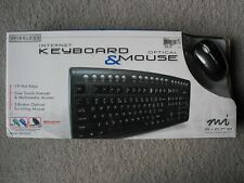 Wireless Internet Keyboard & Optical Mouse by Micro Innovations KB985W BRAND NEW