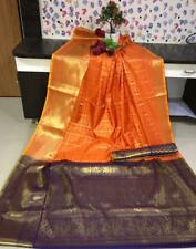 silk saree  kanchipuram  handloom weaving with rich contrast zari wooven pallu