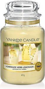 Yankee Candle Large jar 623g Brand New - Homemade Herb Lemonade - Clearance