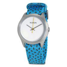 Nixon Mod White Dial Ladies Blue Paisley Dot Nylon Watch A348-2009-00