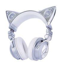 Brookstone 320538 Limited Edition Ariana Grande Wireless Bluetooth Headphones - Chrome/White