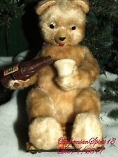 ANTIQUE 1920's BEAR POURING FROM A BOTTLE BATTERY OPERAT SOLD AS IS TOY