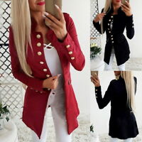 Vintage Women OL Long Sleeve Slim Fit Casual Blazer Suit Jacket Coat Outwear BD