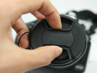1x 49mm Center Pinch Snap-on Front Lens Cap Cover For Canon Nikon Sony Camera L7