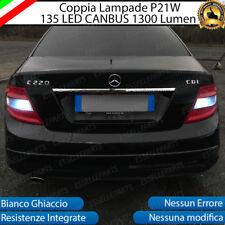 COPPIA LUCI RETROMARCIA 135 LED P21W BA15S CANBUS 3.0 MERCEDES CLASSE C W204