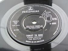 The Beatles Original 1965 Reino Unido 45 billete para montar Orig Manga W K T código fiscal