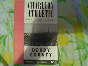 Charlton Athletic v Derby County, Season 1962/63, Division Two