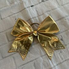 Chasse Gold And Black Cheer Top With Gold Bow Size Youth Large