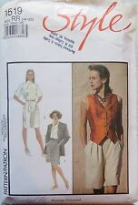 Style sewing pattern no.1519 size 14-20 ladies shorts