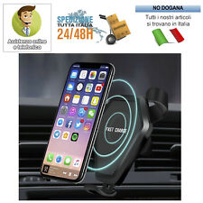 CARICATORE WIRELESS AUTO RICARICA RAPIDA SUPPORTO REGOLABILE PER IPHONE 8/8 PLUS