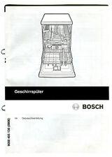 Gebrauchsanleitung Geschirrspüler Bosch 9000 405 136 (8906) de
