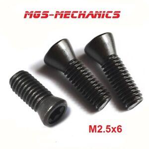 10 Stück TORX Schrauben M2.5x6 M2.5x8 oder M2.5x10 für Wendeplatten Klemmhalter