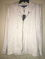 Tommy Hilfiger Zip-Up Hood Jacket White XL