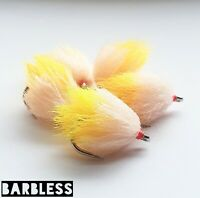 Mx-D Sunburst / Biscuit Blobs Size 10 Barbless (Set of 3) Fly Fishing Bung