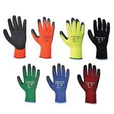 Portwest A140 Thermal Warm Winter Latex Palm Coated Grip Glove 72 or 144 Pairs