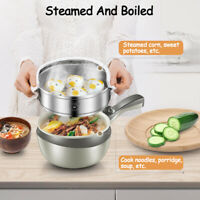 Mini Stainless Steel Electric Wok Skillet Frying Pan Multi-function Cooker