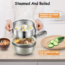 Stainless Steel Electric Wok Skillet Frying Pan Small Multi-function   2-