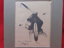 E-JOSHUA-JR-1980-VINTAGE-NATIVE-AMERICAN- Pencil Art-Print