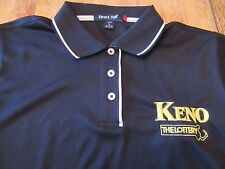 Massachusetts Lottery Keno Employee Womens SS Polo Shirt Size M (NWOT)