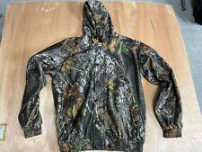 Remington Hunting Camo Camouflage Hooded Jacket Size Medium Scent Control EUC